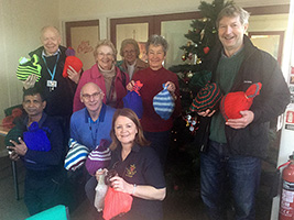 Christmas woolly hats for seafarers