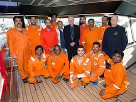 Aberdeen Bishop visits stranded seafarers