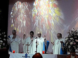 Vatican Bishop celebrates Mass for Ventura crew