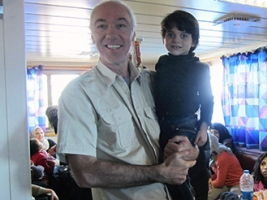 Poignant meeting with migrant ship captain