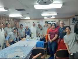 Joint faith service on board