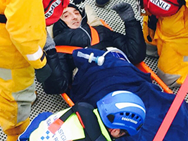 Seafarer hospitalised after he was blown off feet