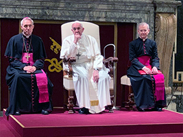 Pope Francis meets AoS Europe