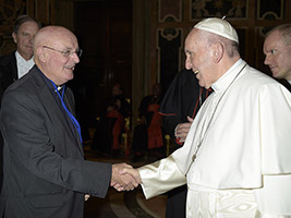 Fr Colum meets Pope Francis
