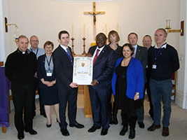 Papal Blessing for ex AoS Trustee