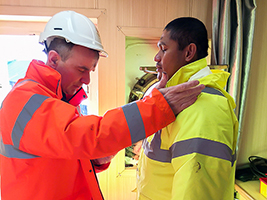 'Getting on' with bereavement at sea
