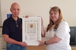 Papal Blessing for Felixstowe ship visitor