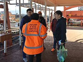 Chinese crew looked after