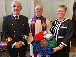 Seafarers remembered in Merchant Navy service