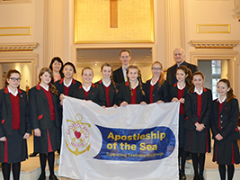 New Hall School pupils learn about AoS