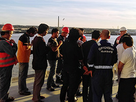 Crew distraught after captain's death