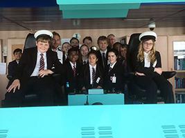 Pupils visit cruise ship