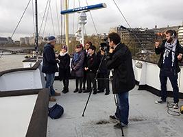 London pupils visit HQS Wellington