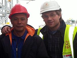 AoS helps injured crew member