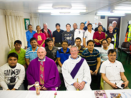 Mass For Grieving Crew