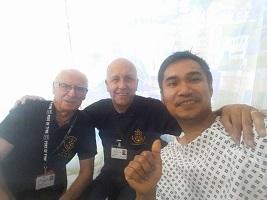 Sick seafarer and injured docker supported