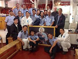 AoS supports cruise ship crew